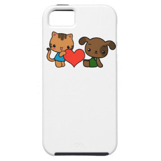 """""""take my heart,"""" said the cat to the dog iPhone 5 covers"""