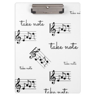"""""""Take Note"""" Musical Note Clipboard"""