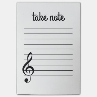 Take Note Musical Post-It Notes