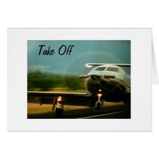 TAKE OFF-ENJOY YOUR NEW ADVENTURE CARD