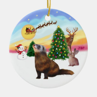 Take Off - Ferret 1 Christmas Ornament