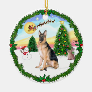 Take Off -  German Shepherd Christmas Ornament