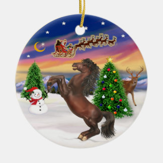 Take Off - Horse (brown) Christmas Ornament