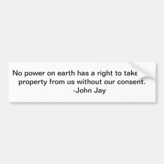 take our property bumper stickers