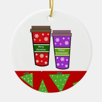 Take Out Holiday Coffees Christmas Ornament