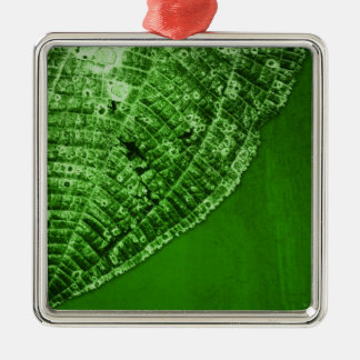 take out leaf Silver-Colored square decoration