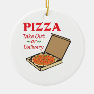 TAKE OUT OR DELIVERY CHRISTMAS ORNAMENT