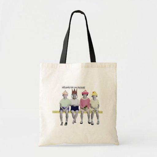 Take Over the World Retro Humourous T Shirt Bag