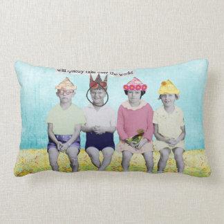Take Over the World Retro Humourous Throw Pillow
