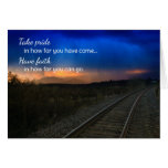 Take pride in how far...Motivational Greeting Card