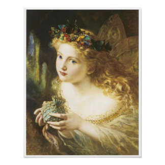 Take the Fair face of Woman, Fairy Painting, 1869 Poster