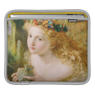 Take the Fair Face of Woman Vintage Fine Art Sleeves For iPads