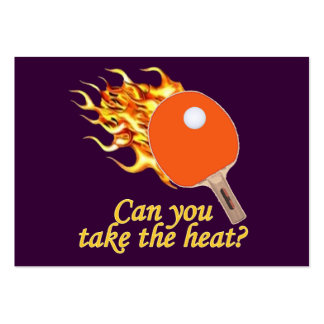 Take the Heat Flaming Ping Pong Pack Of Chubby Business Cards