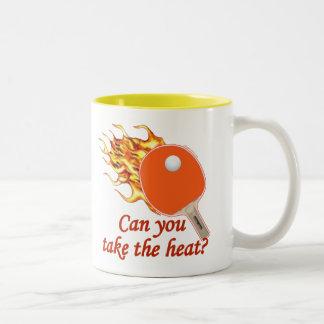 Take the Heat Flaming Ping Pong Two-Tone Mug
