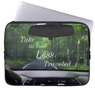 Take The Road Less Traveled Quote Laptop Case