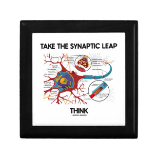 Take The Synaptic Leap Think (Neuron Synapse) Jewelry Box