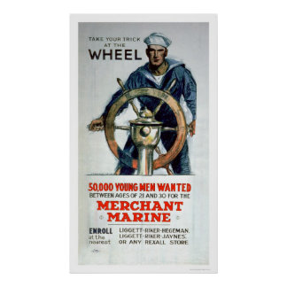 Take the Wheel - Merchant Marine (US02058) Poster