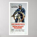 Take the Wheel - Merchant Marine (US02058) Posters