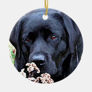 Take Time - Black Labrador Christmas Ornament