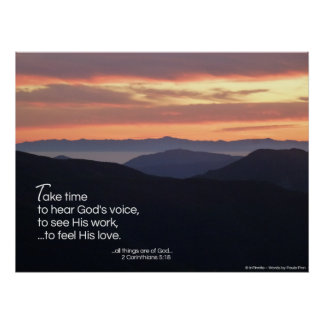 Take time to hear... poster