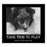 Take Time To Play Border Collie Inspirational Poster