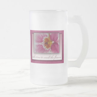 Take time to smell the flowers coffee mugs