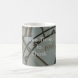 Take Time to Think Basic White Mug