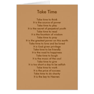 Take Time to Think Card