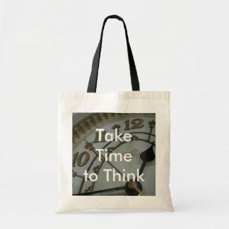 Take Time to Think Tote Bag