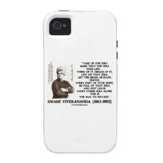Take Up One Idea Make That Idea Your Life Quote iPhone 4/4S Case