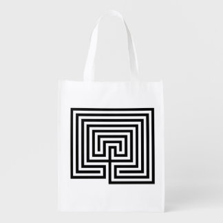 Take Your Labyrinth with You Bag - Black and White
