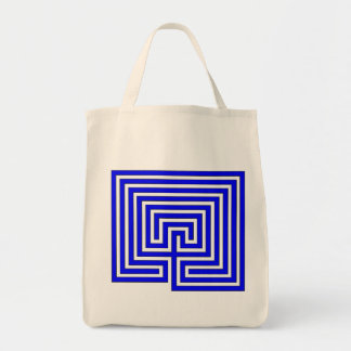 Take Your Labyrinth with You - Blue Image on Bag
