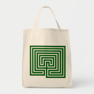 Take Your Labyrinth with You - Green Image on Bag