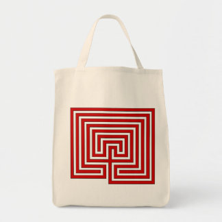 Take Your Labyrinth with You - Red Image on Bag