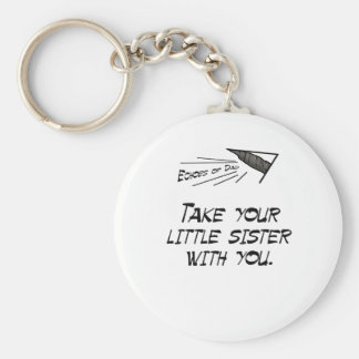 Take your little sister basic round button key ring