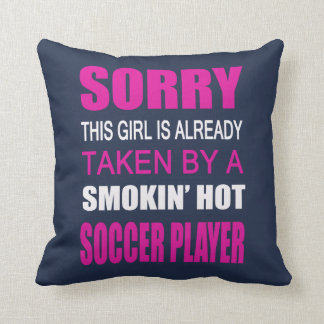 Taken By A Soccer Player Cushion