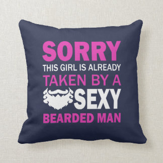 Taken By Sexy Bearded Man Cushion