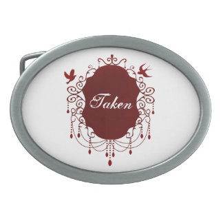 Taken Cute Gothic Valentines day belt buckle