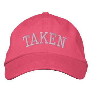 TAKEN EMBROIDERED BASEBALL CAP