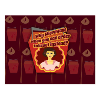 Takeout Diva Kitschy 50 s Housewife Too Post Cards