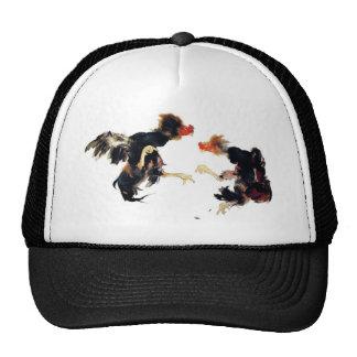 Takeuchi 栖 鳳 gamecock fighting chicken chicken chi trucker hats