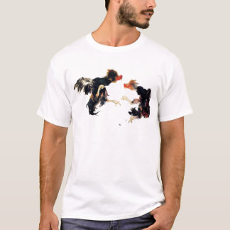 Takeuchi 栖 鳳 gamecock fighting chicken chicken T-Shirt