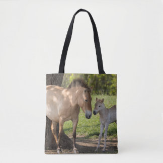 Takhi Mare with Her Foal Tote Bag
