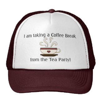 Taking a Coffee Break from Tea Party Design Cap