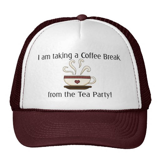 Taking a Coffee Break from Tea Party Design Mesh Hats