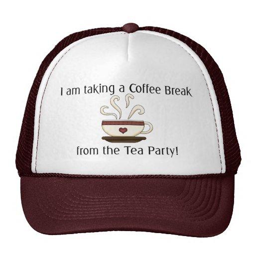 Taking a Coffee Break from Tea Party Design Mesh Hats