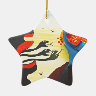Taking a stance against falsehoods ceramic star decoration