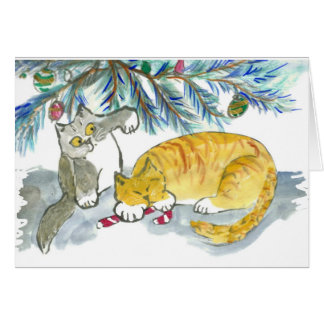 Taking Back the Candy Cane by Kitty Greeting Card