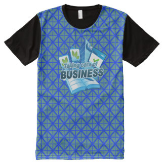 Taking care of Business blue All Printed T-Shirt