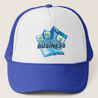 Taking care of Business blue Trucker Hat